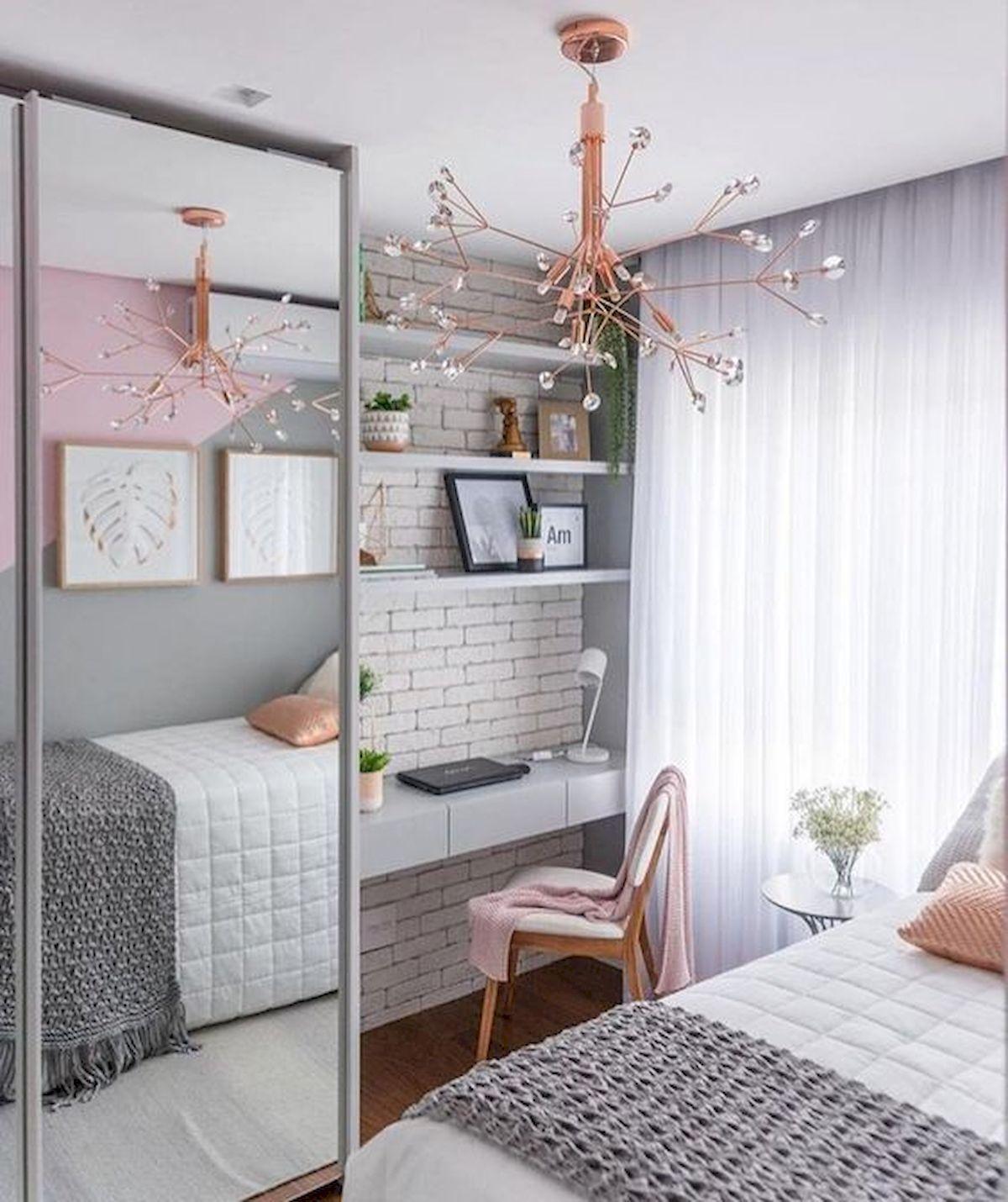 71 Stunning Small Bedroom Design Ideas (1) - artmyideas #bedroomapartment