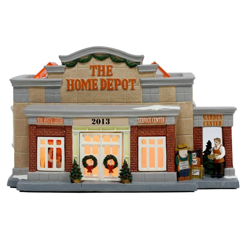 The Home Depot Lighted Village House is a great addition to your ...