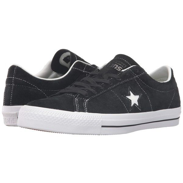 Converse Skate One Star OG Suede Ox (Black) Lace up casual Shoes ($70