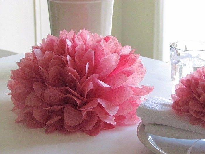 Tissue paper flower centre pieces mr mrs