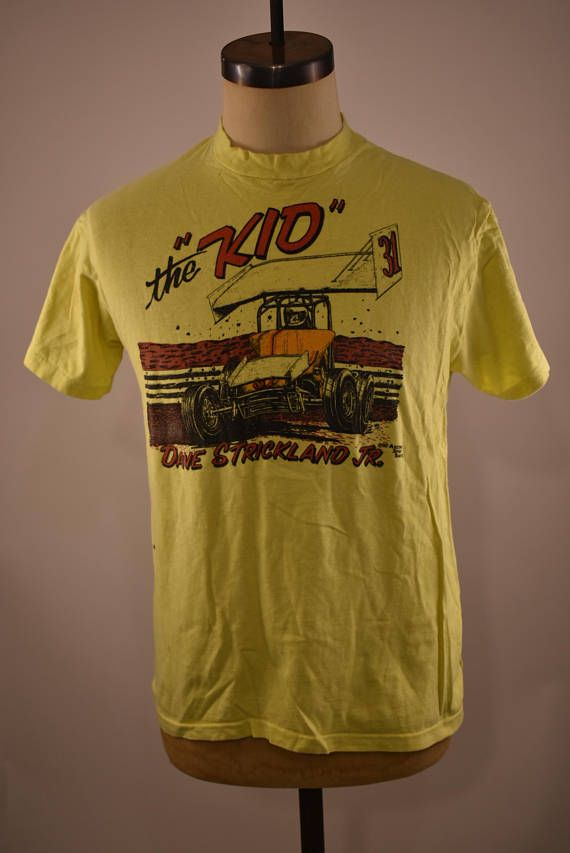 Vintage the KID Dave Strickland Jr. Yellow Tee
