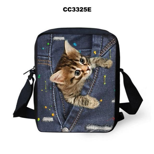 MESSENGER 3D ANIMAL PRINT SHOULDER BAGS • 44 DESIGNS