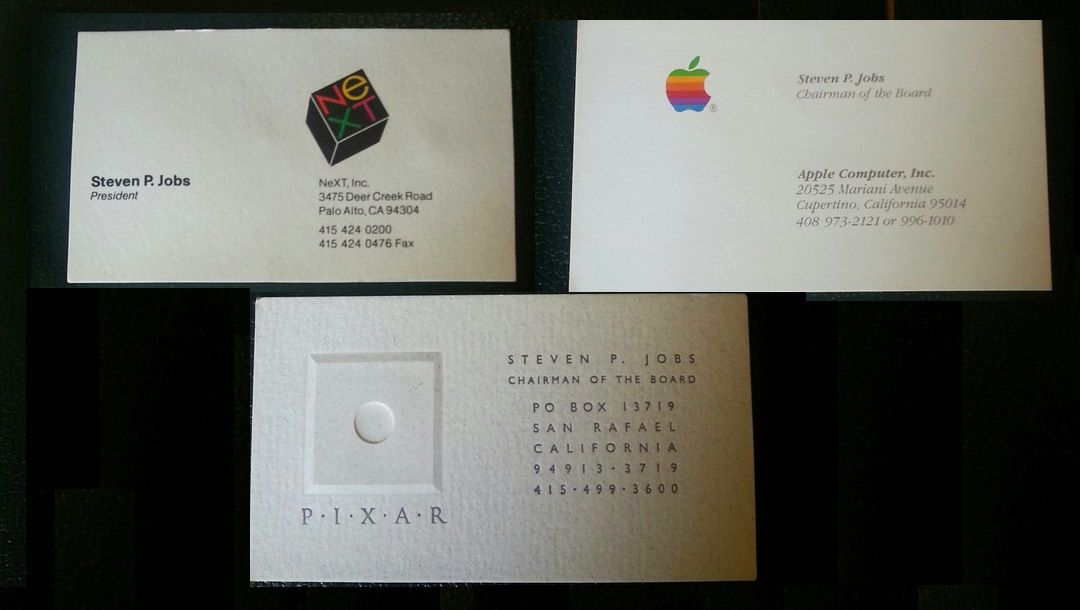 6 steve jobs used to carry very simple cards in his business days