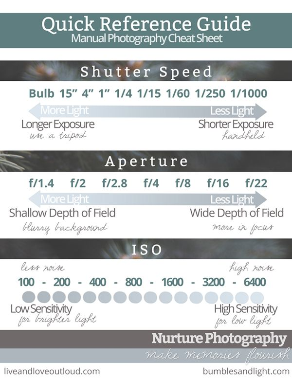 FREE printable photography cheat sheet/quick reference guide for ...
