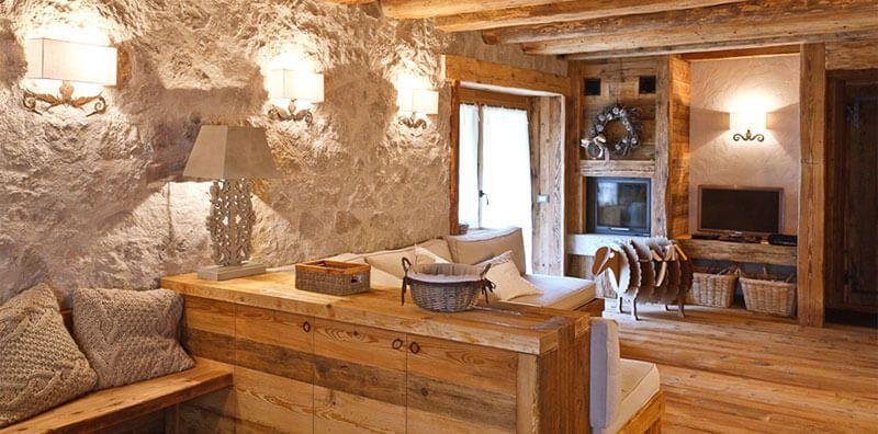 Arredamont arredamento e interior design nelle case di for Arredamento chalet legno