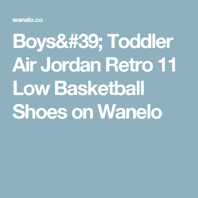 Boys  Toddler Air Jordan Retro 11 Low Basketball Shoes on Wanelo ... 1fa9829456