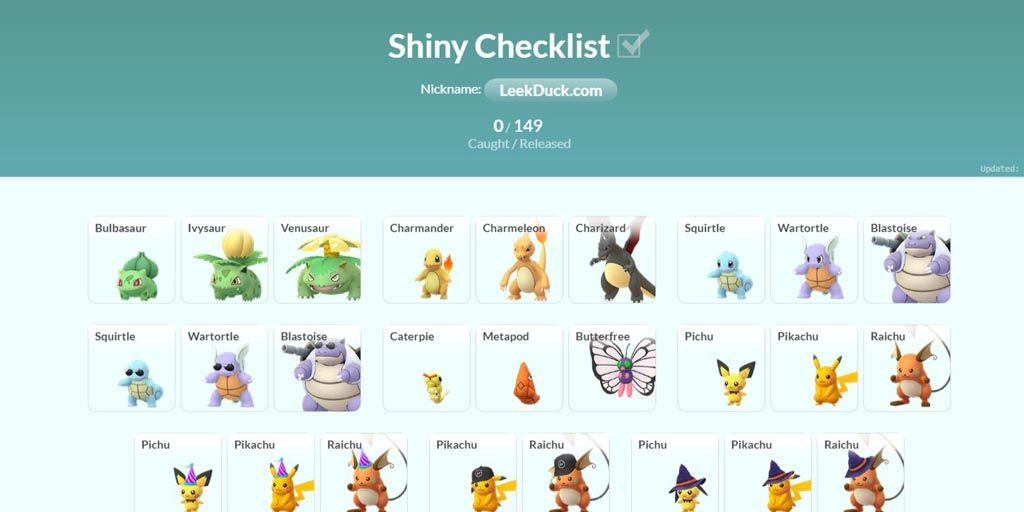 This is a list of the currently available Shiny Pokémon in ...