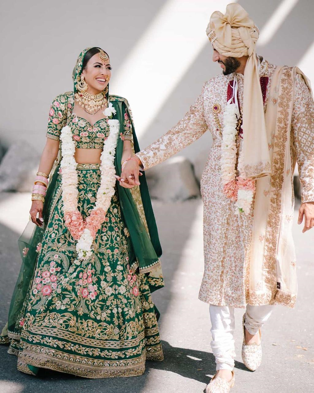 A Surreal Wedding With Lots Of Greenery And Colours In 2020 Wedding Outfits For Groom Indian Wedding Outfits Groom Dress Men