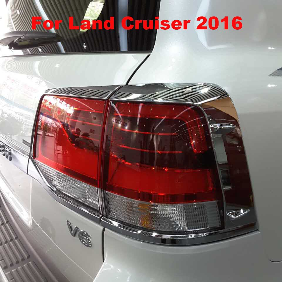 2016 Chrome Tail Light Lamp Cover For Toyota Land Cruiser V8 LC 200  Accessories #Affiliate