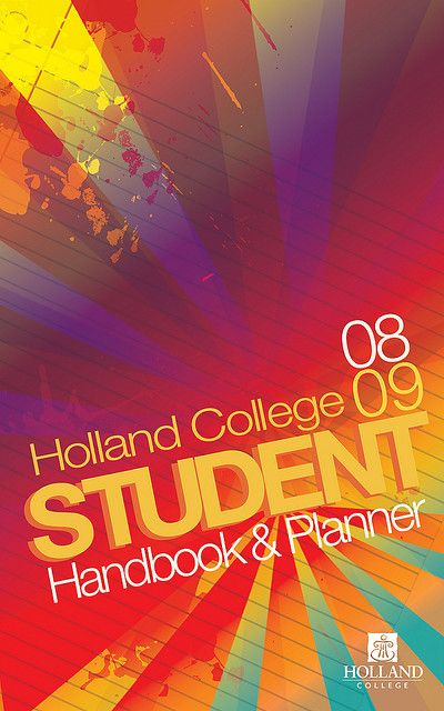 Holland College Student Handbook and Planner Cover Design by