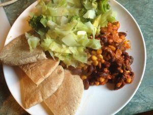 This is another recipe from the brilliant Madhur Jaffrey's World Vegetarian, though I made a few changes – omitting the lemon juice, changing some quantities and using tinned kidney bea…