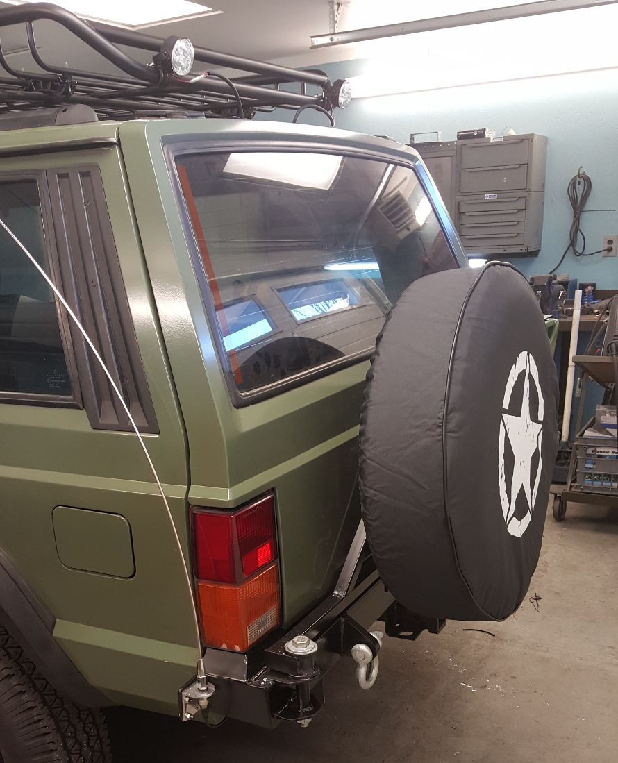 Homebrew Rear Tire Swing Jeep Cherokee Forum With Images