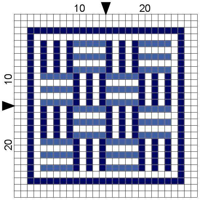 Free Geometric Cross Stitch Pattern