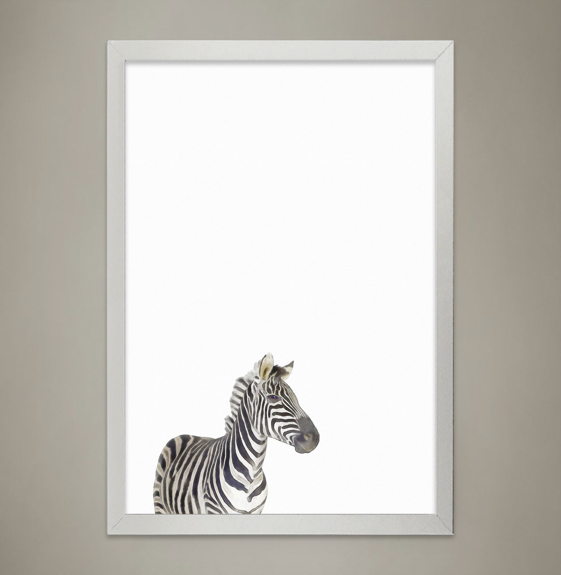 Baby ZEBRA Animal Print Nursery wall decor, Wall Art for