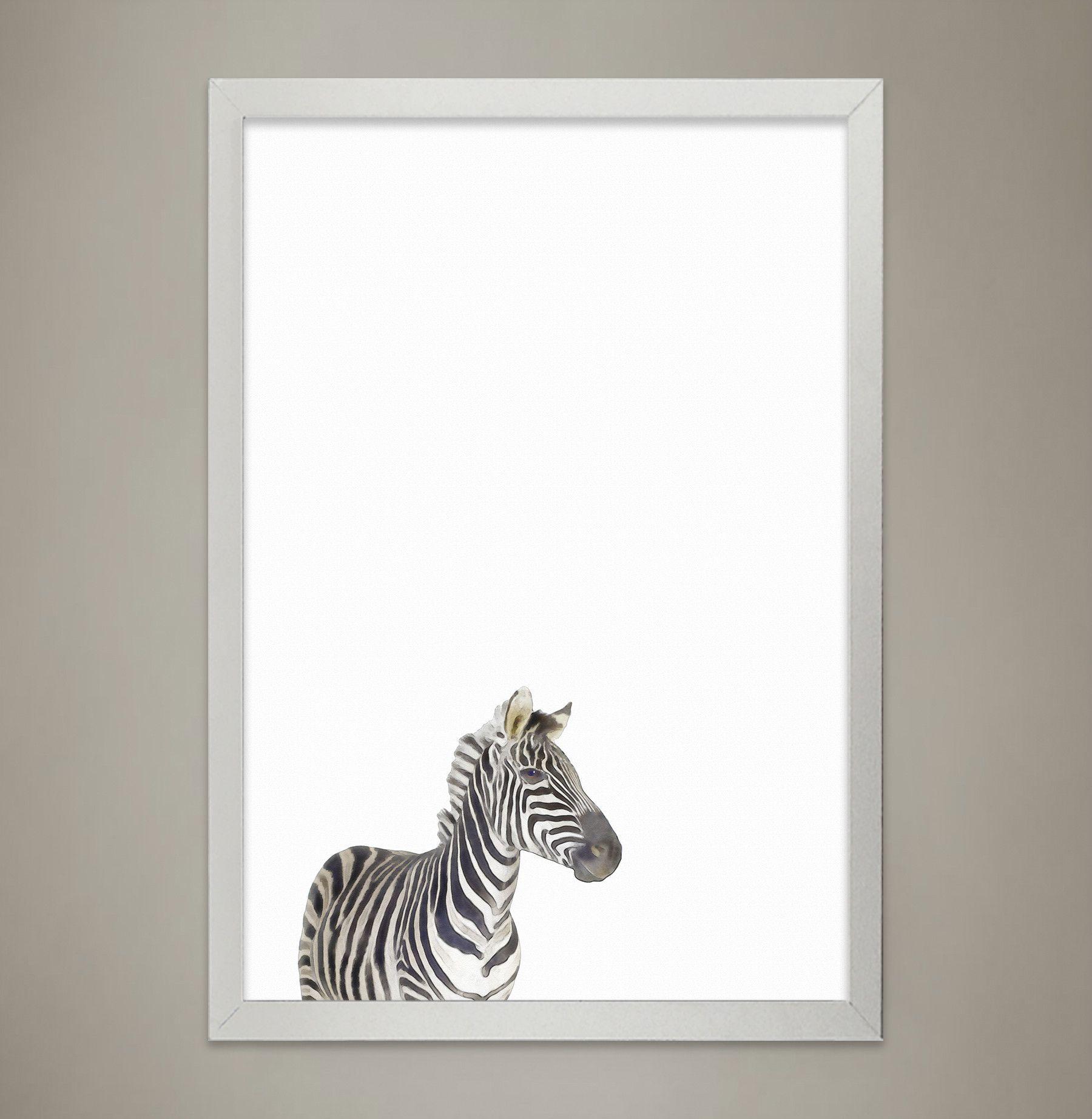 Baby ZEBRA Animal Print Nursery wall decor, Wall Art for