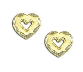 #Brinco #folheado a ouro em forma de um coração vazado.  - Código: BS1668 - Preço 6,90 - Garantia de 1 ano pós compra. Compre em: www.imagemfolheados.com.br/?a=76729