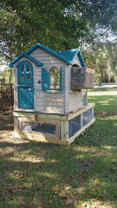 Little Tykes Playhouse Chicken Tractor Coop Best Chicken Coop Chickens Backyard Chicken Coop