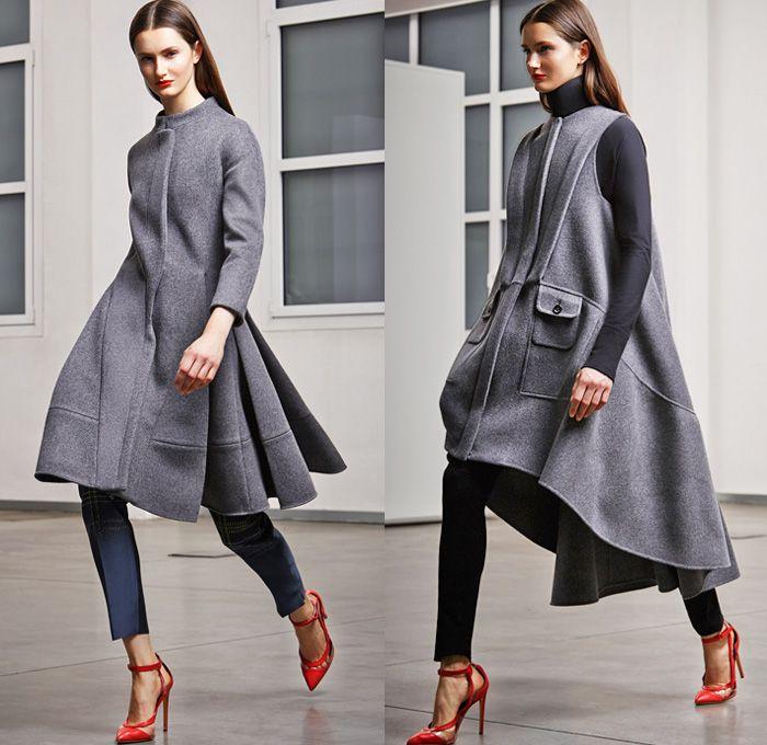 bf12ba8d2398 Antonio Berardi 2014 Pre Fall Womens Presentation - Pre Autumn Collection  Looks - Wide Leg Palazzo Pants Culottes Masculine Pantsuit Blazer .