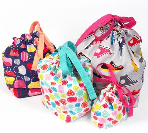 free pattern: drawstring bags « Ann Kelle | Sew- Totes, Pouches ...