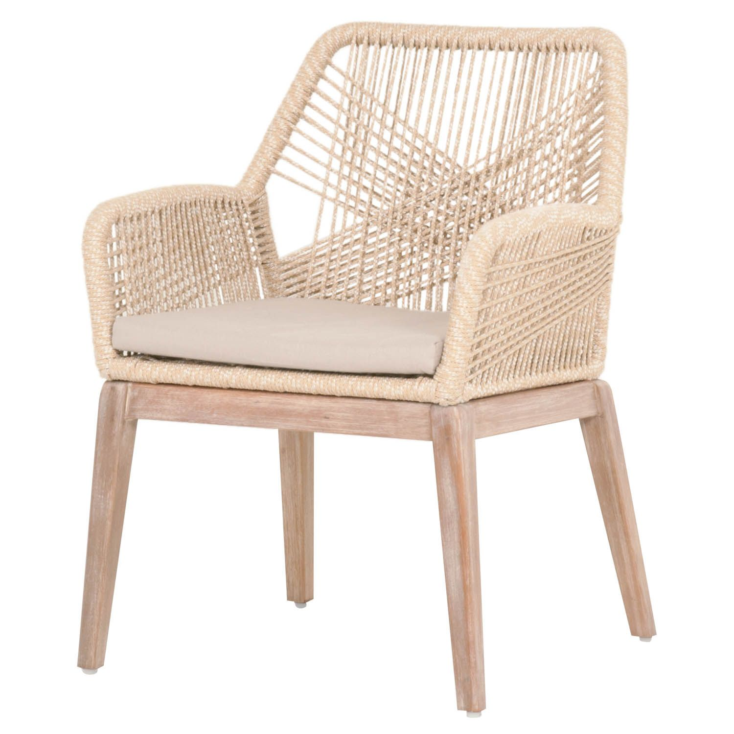 Set of Two Luca Sand Woven Rope Arm Chairs