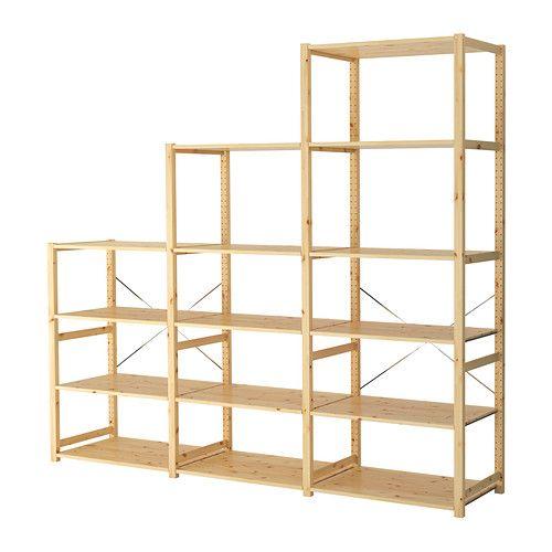 Ikea Ivar 3 Sections étagères Bois Massif Brut Un Matériau