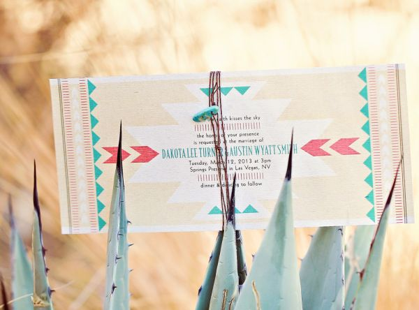 Native American Wedding Invitations: Southwestern Styled Shoot At The Springs Preserve {Wedding
