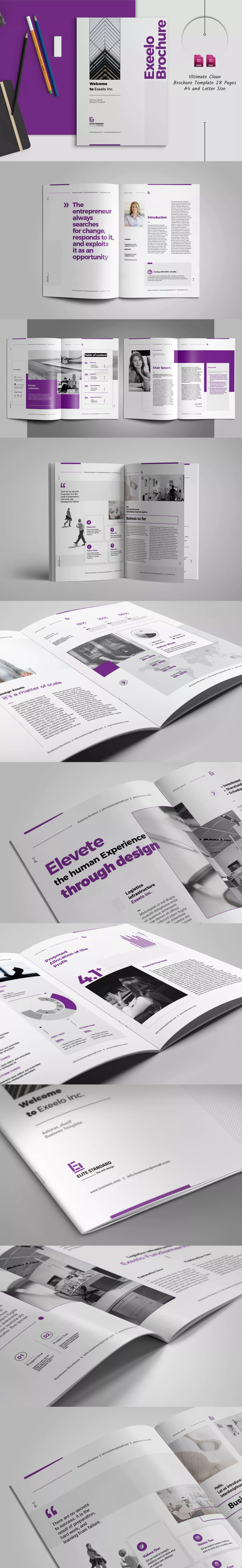 Business Brochure Template InDesign INDD - A4 and US Letter Size ...