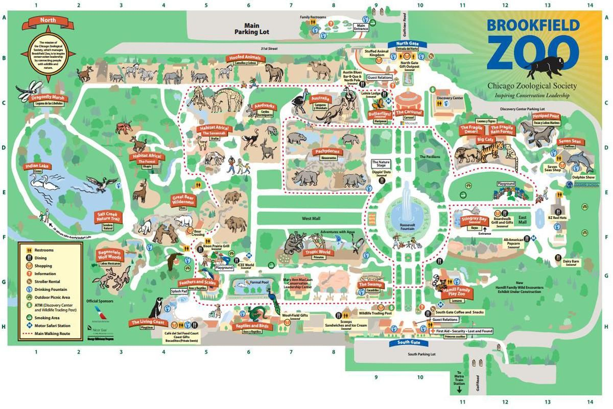 Brookfield Zoo Map David classroom Pinterest Zoos and Tourist
