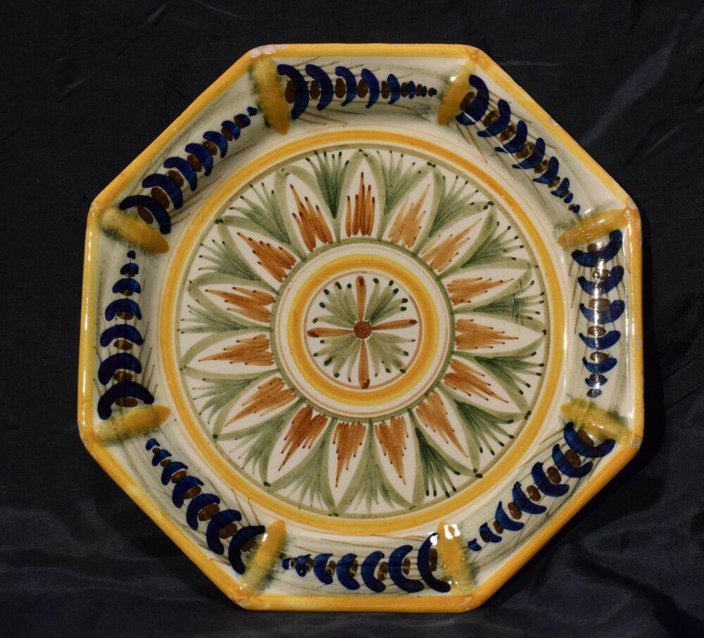 Ceramiche Toscane Montelupo Fiorentino antico piatto maiolica salvini fine '800 toscana
