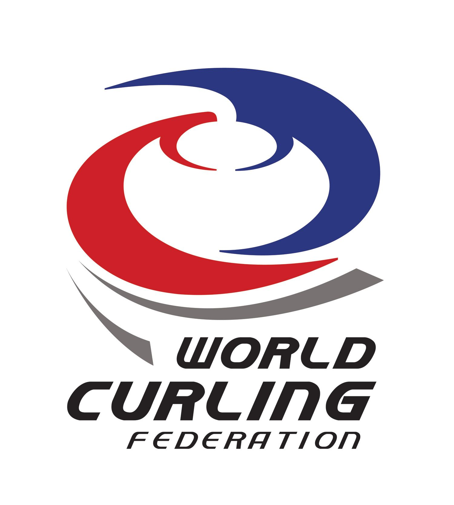 World Curling Federation Logo WCF Download Vector