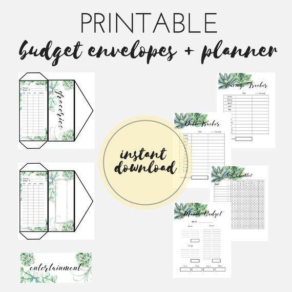 PRINTABLE Budget Printable, Dave Ramsey Snowball, Cash Envelopes