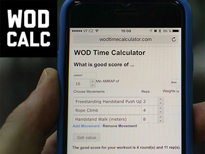 Let me introduce you WOD Time Calculator app I created that