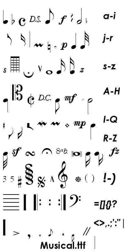 music font | Graphics | Music notes, Music symbols, Music