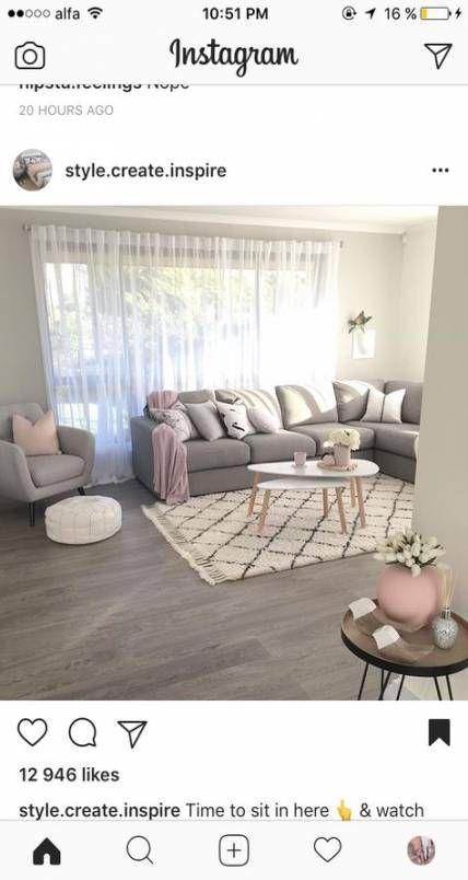 Best Living Room Grey Blush Pink 42 Ideas Livingroom Living 400 x 300