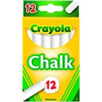Crayola (51-0320) White Chalk 12 each