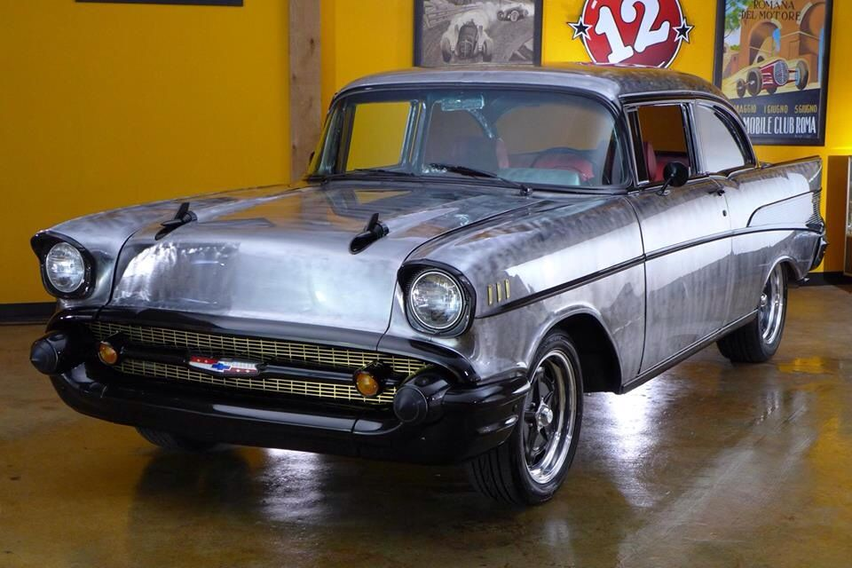 Awesome 1957 chevy maaco lubbock worked on for flat 12 for Classic motor cars lubbock