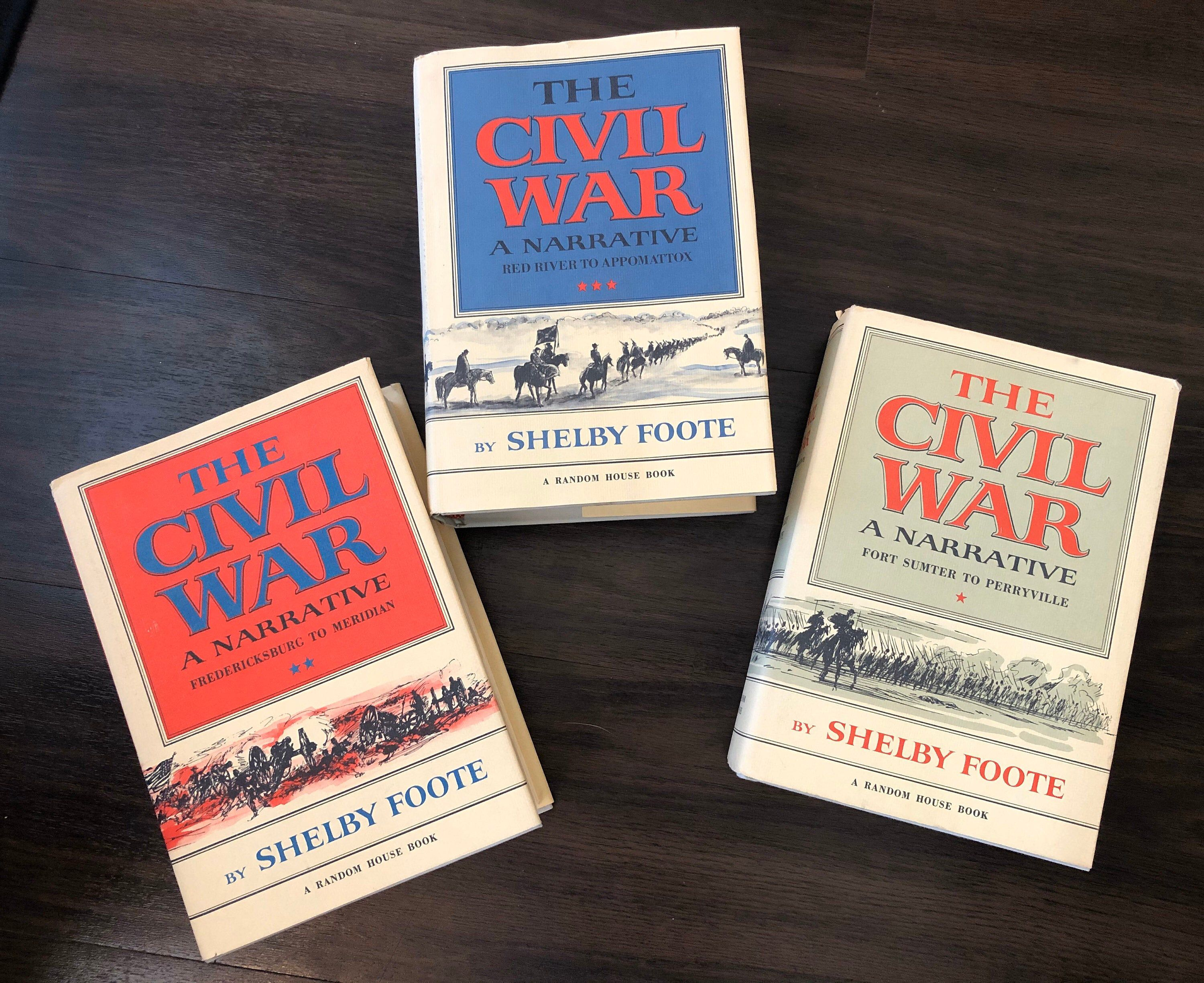 Civil War Books Narrative Set Shelby Foote First Editions Etsy Civil War Books Book Set Civil War History
