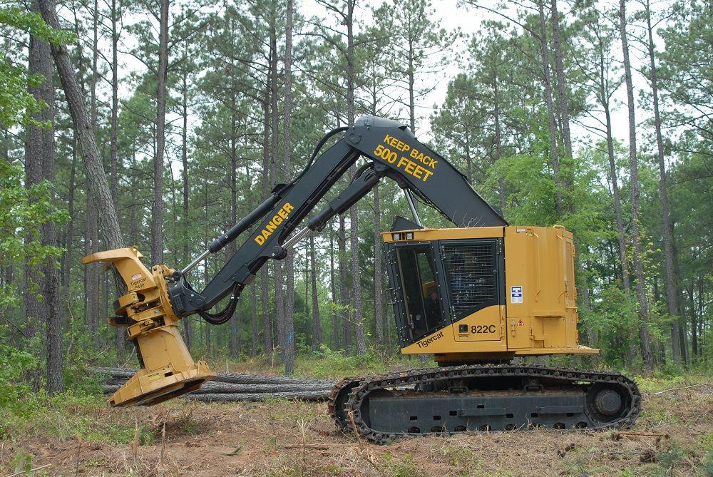 Tigercat 822c Feller Buncher Logging Equipment Forestry Equipment Heavy Equipment