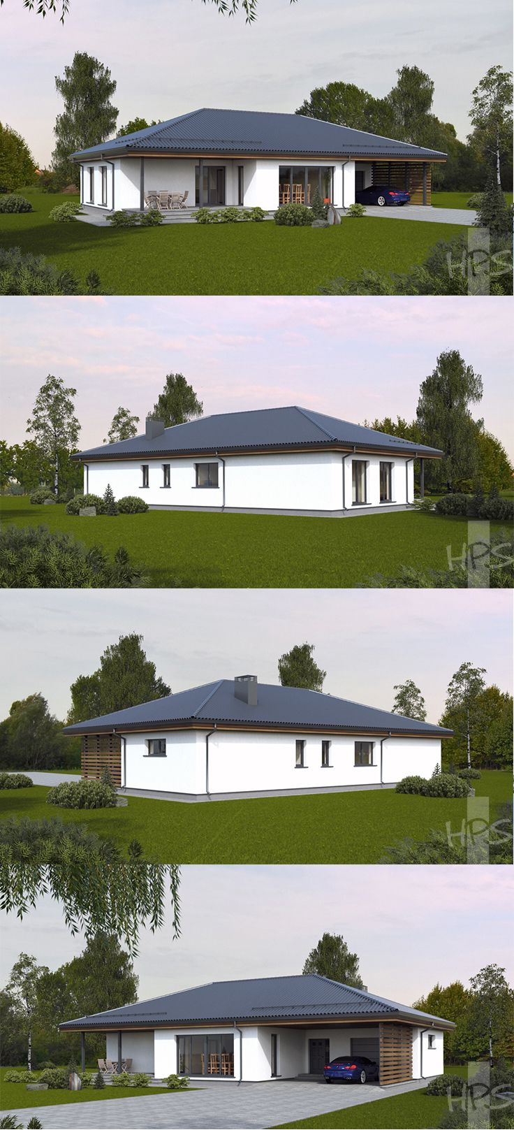 The project of a house for a hunter in the Moscow region