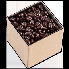 Grains de chocolat noir parfumé au café.
