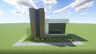 minecraft simple modern house easy survival starter house