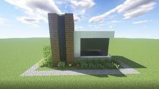 minecraft simple modern house easy survival starter house