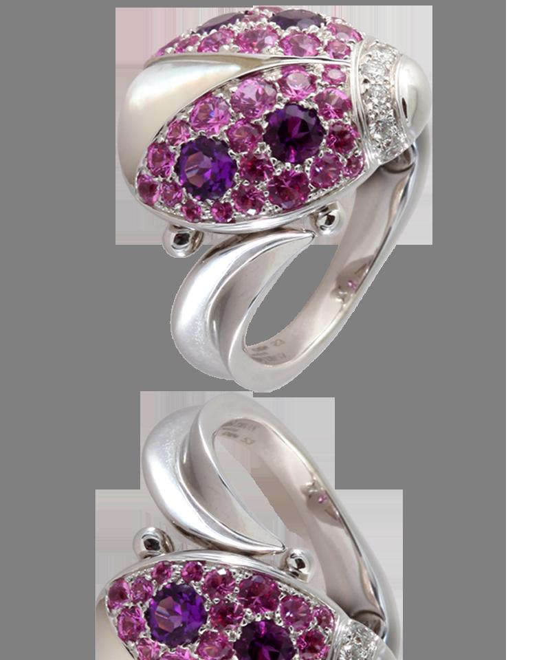 uk availability outlet latest Coccinelle ring by Mathon Paris White gold, diamonds ...
