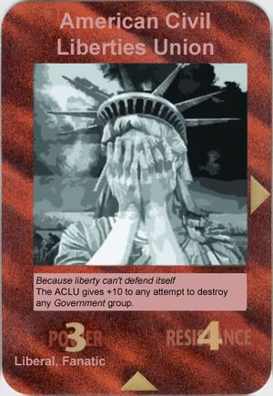 Illuminati Card Game - American Civil Liberties Union