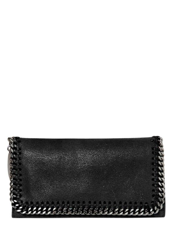 STELLA MCCARTNEY SHAGGY FAUX DEER ZIP AROUND WALLET