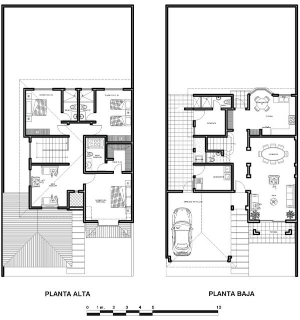 Planos De Casa Colonial De 2 Plantas 240m2 Planos De Casas Planos Arquitectónicos De Casas Hacer Planos De Casas