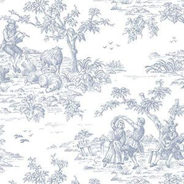 Pin By 918 Interiors On Blue White Toile Wallpaper Wallpaper Warehouse Wallpaper