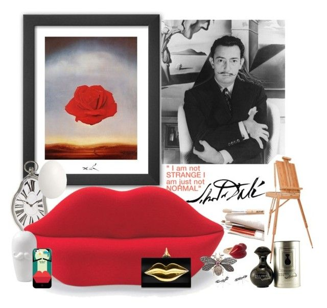 """Salvador Dalí and his surreal world"" by nicolesynth ❤ liked on Polyvore featuring art"
