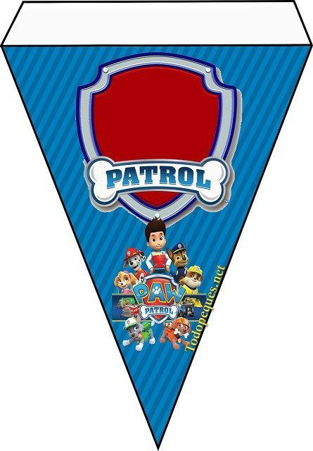 Banderin de paw patrol moldes para imprimir gratis - Cumpleanos patrulla canina ...