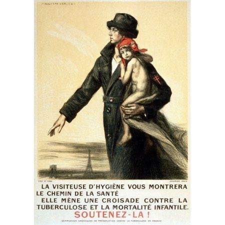 WWI France The Health Inspector Will Show You The Road To Health She Is Canvas Art - (24 x 36)